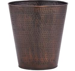 Hammered Copper Waste Basket