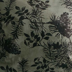 Moss Pinecone Shower Curtain