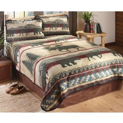 Ceder Run Fleece Bedding Set and Blankets