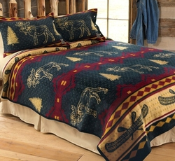 Moose Fever Fleece Bedding