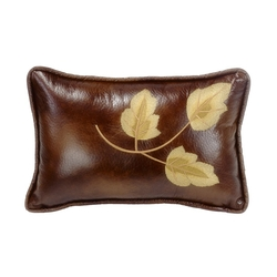 Highland Lodge Faux Leather Pillow