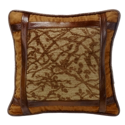 Highland Lodge Branch Square Accent Pillow