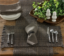 Tweed Table Runner - Charcoal - two sizes