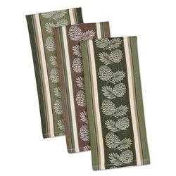 Pinecone Sprig Jacquard Dishtowel - Set of 3