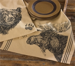 Moose Printed Dishtowel
