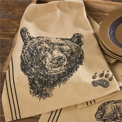 Black Bear Printed Dishtowel