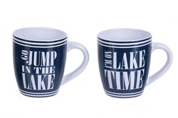 Jump In Lake and Lake Time Coffee Mugs