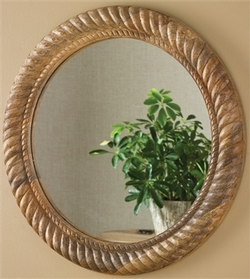 Wooden Mirror Carved Rope Frame - 24