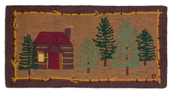Cabin In The Woods Rug - 2' x 4'