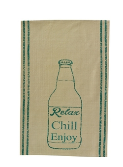 Relax Chill Enjoy Printed Dishtowel