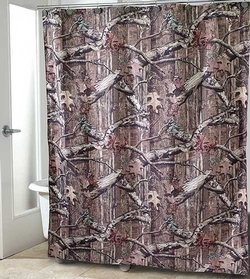 Mossy Oak Fabric Shower Curtain