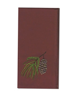 Wilderness Trail Pinecone Embroidered Napkin - Set of 2