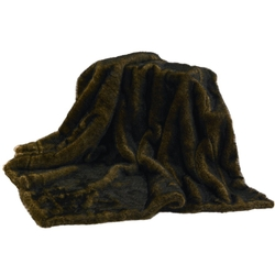 Faux Brown Bear Fur Throw