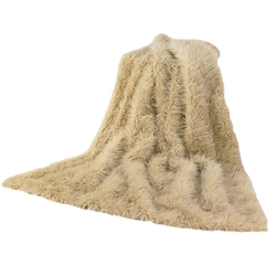 Sheep Skin Faux Throw