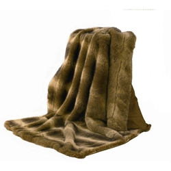 Wolf Faux Fur Throw