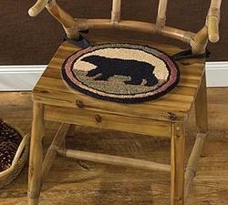 Adirondack Bear Hooked Chair Pad