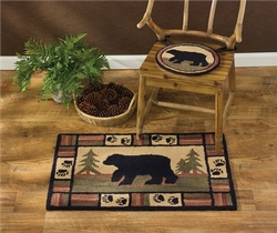 Adirondack Bear Hooked Chair Pad