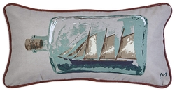 Ship in Bottle Canvas Pillow