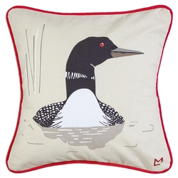 Summer Loon Canvas Pillow - 18