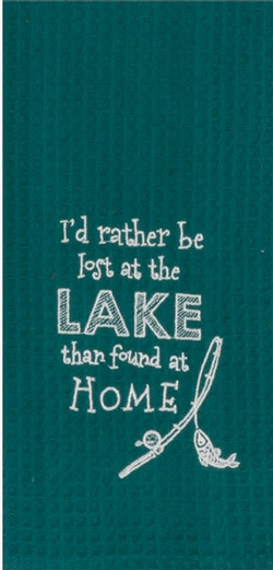 At The Lake Embroidered Towel