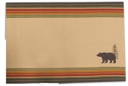 Bear Embroidered Placemat - Set of 2