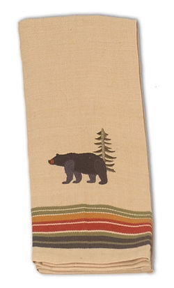 Bear Embroidered Terry Towel
