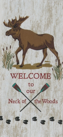 Welcome to Our Neck of the Woods - Tea Towel