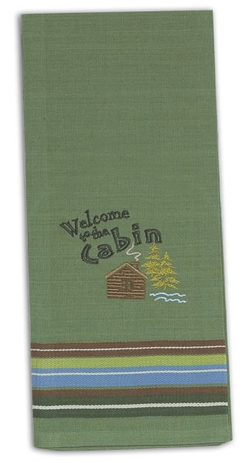 Welcome to the Cabin Tea Towel