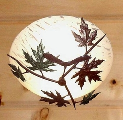 Maple Leaf with Seed Pod Ceiling Fixture