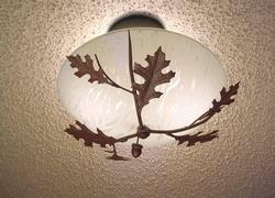 Acorn and Oak Leaf Celing Light