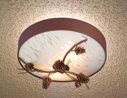 Pinecone & Needles 3-D Ceiling Light