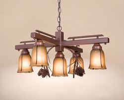 4 Arm Inverted Pinecone Chandelier