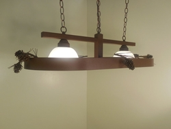 Oval Pool Table Light/Lighted Cookware Hanger