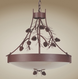 Pinecone and Needles Chandelier