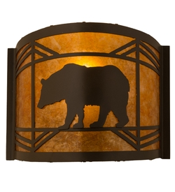 Lone Bear Rustic Wall Scone - 12