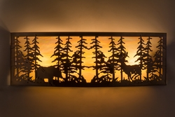 Tall Pines with Bear and Deer Wall Sconce - 36