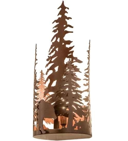 Bear Through The Trees Wall Sconce