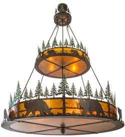Bear in the Woods 2 Tier Invented Pendant Chandelier