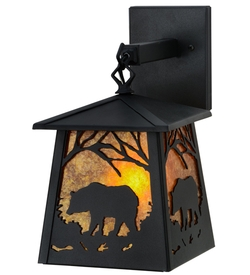 Bear at Dawn Hanging Wall Sconce