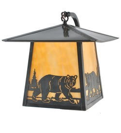 Stillwater Northwoods Bear Creek Curved Arm Wall Sconce