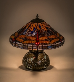 Tiffany Hanginghead Dragonfly Table Lamp