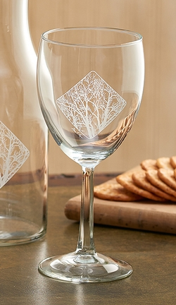 Among Trees White Wine Glass - Set of 4
