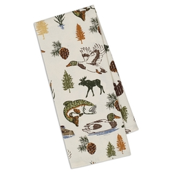 Lake Wood Printed Dish Towel