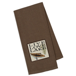 Live, Love, Lake Emboridered Towel