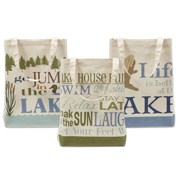 Lake House Printed Totes