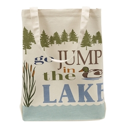 Lake House Printed Totes