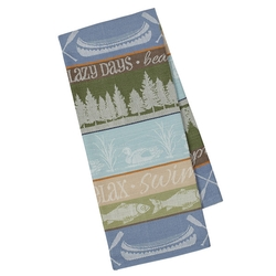 Lake House Stripe Jacquard Dish Towel