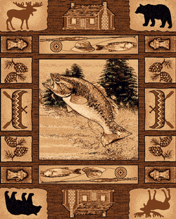 Lodge Fish Rug Series