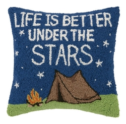 Life is Better Under the Stars Pillow