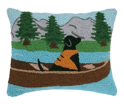 Lab in Life Jacket Pillow